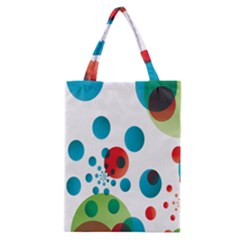 Polka Dot Circle Red Blue Green Classic Tote Bag by Mariart