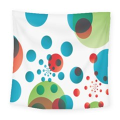 Polka Dot Circle Red Blue Green Square Tapestry (large) by Mariart
