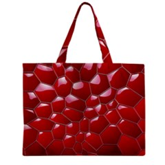 Plaid Iron Red Line Light Zipper Mini Tote Bag by Mariart