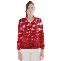 Plaid Iron Red Line Light Wind Breaker (women) by Mariart