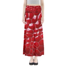 Plaid Iron Red Line Light Maxi Skirts by Mariart