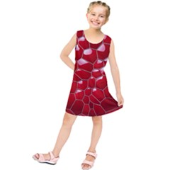 Plaid Iron Red Line Light Kids  Tunic Dress by Mariart