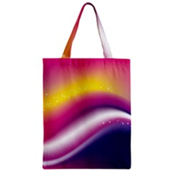 Rainbow Space Red Pink Purple Blue Yellow White Star Zipper Classic Tote Bag by Mariart
