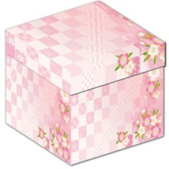 Sakura Flower Floral Pink Star Plaid Wave Chevron Storage Stool 12   by Mariart