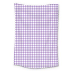 Plaid Purple White Line Large Tapestry by Mariart