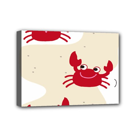 Sand Animals Red Crab Mini Canvas 7  X 5  by Mariart