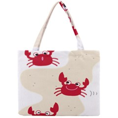 Sand Animals Red Crab Mini Tote Bag by Mariart