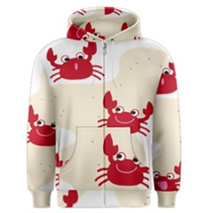 Sand Animals Red Crab Men s Zipper Hoodie by Mariart