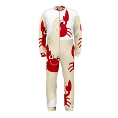 Sand Animals Red Crab Onepiece Jumpsuit (kids) by Mariart
