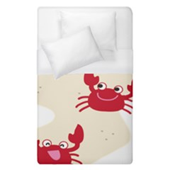 Sand Animals Red Crab Duvet Cover (single Size) by Mariart