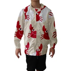 Sand Animals Red Crab Hooded Wind Breaker (kids)
