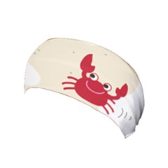 Sand Animals Red Crab Yoga Headband by Mariart