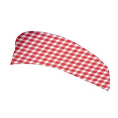 Plaid Red White Line Stretchable Headband by Mariart
