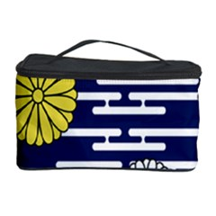 Sunflower Line Blue Yellpw Cosmetic Storage Case by Mariart