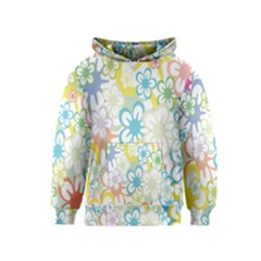 Star Flower Rainbow Sunflower Sakura Kids  Pullover Hoodie by Mariart