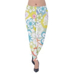Star Flower Rainbow Sunflower Sakura Velvet Leggings