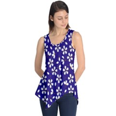 Star Flower Blue White Sleeveless Tunic