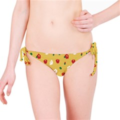 Tulip Sunflower Sakura Flower Floral Red White Leaf Green Bikini Bottom