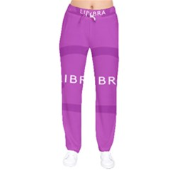Zodizc Libra Purple Drawstring Pants by Mariart