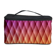 Triangle Plaid Chevron Wave Pink Purple Yellow Rainbow Cosmetic Storage Case by Mariart