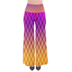 Triangle Plaid Chevron Wave Pink Purple Yellow Rainbow Pants by Mariart