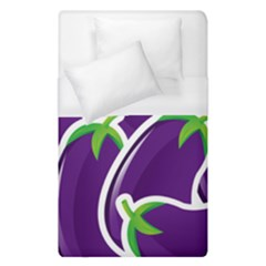 Vegetable Eggplant Purple Green Duvet Cover (single Size) by Mariart