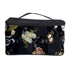 Traditional Music Drum Batik Cosmetic Storage Case by Mariart