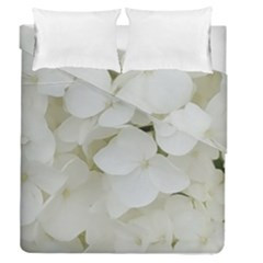 Hydrangea Flowers Blossom White Floral Photography Elegant Bridal Chic  Duvet Cover Double Side (queen Size)