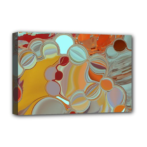 Liquid Bubbles Deluxe Canvas 18  X 12   by digitaldivadesigns
