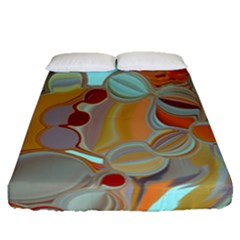 Liquid Bubbles Fitted Sheet (Queen Size)