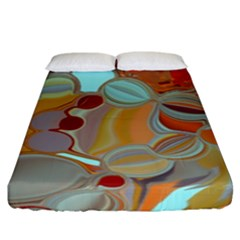 Liquid Bubbles Fitted Sheet (King Size)