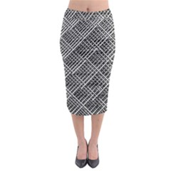 Pattern Metal Pipes Grid Midi Pencil Skirt by Nexatart