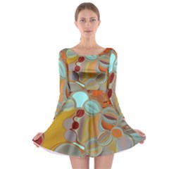 Liquid Bubbles Long Sleeve Skater Dress by digitaldivadesigns