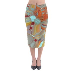 Liquid Bubbles Midi Pencil Skirt by digitaldivadesigns