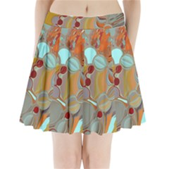 Liquid Bubbles Pleated Mini Skirt by digitaldivadesigns