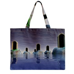 Abstract Gates Doors Stars Zipper Mini Tote Bag by Nexatart