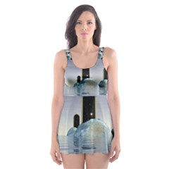 Abstract Gates Doors Stars Skater Dress Swimsuit by Nexatart