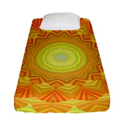 Sunshine Sunny Sun Abstract Yellow Fitted Sheet (single Size)