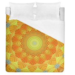 Sunshine Sunny Sun Abstract Yellow Duvet Cover (queen Size) by Nexatart