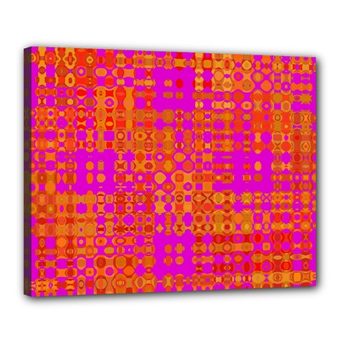 Pink Orange Bright Abstract Canvas 20  X 16