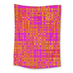 Pink Orange Bright Abstract Medium Tapestry