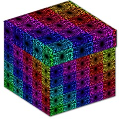 Rainbow Grid Form Abstract Storage Stool 12   by Nexatart