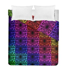 Rainbow Grid Form Abstract Duvet Cover Double Side (full/ Double Size)