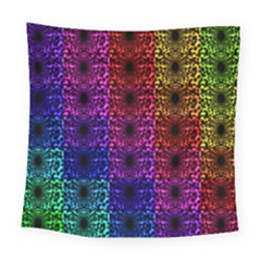 Rainbow Grid Form Abstract Square Tapestry (large) by Nexatart