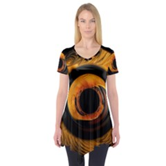 Fractal Pattern Short Sleeve Tunic