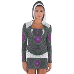 Pattern District Background Women s Long Sleeve Hooded T Shirt
