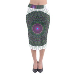 Pattern District Background Midi Pencil Skirt