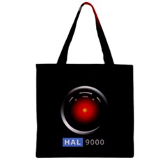 Hal 9000 Zipper Grocery Tote Bag
