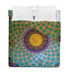 Temple Abstract Ceiling Chinese Duvet Cover Double Side (full/ Double Size)