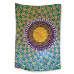 Temple Abstract Ceiling Chinese Large Tapestry